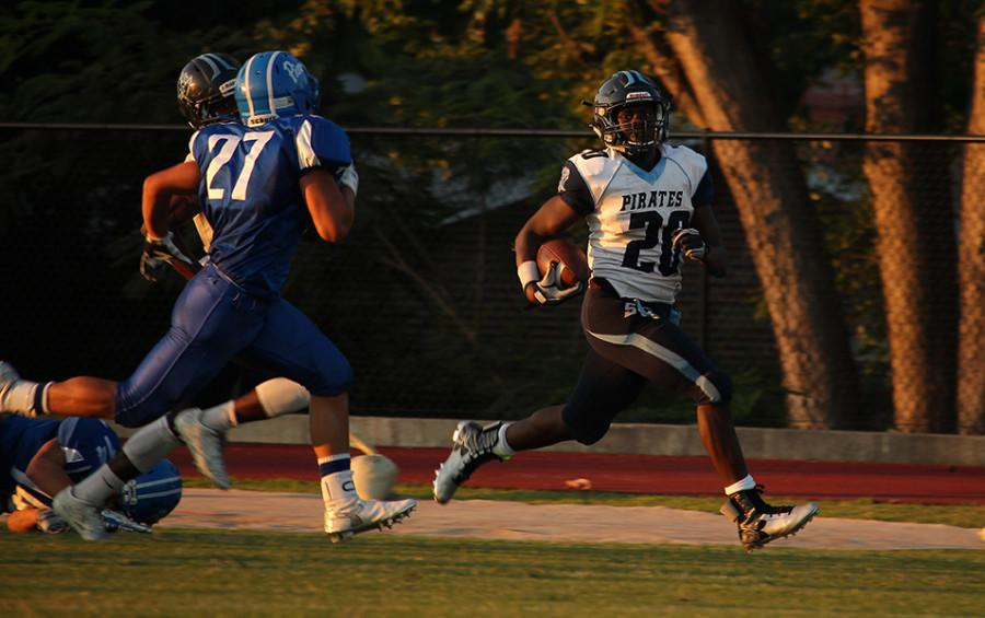 Junior running back Jordan Gladney gets a break away against Duchesne