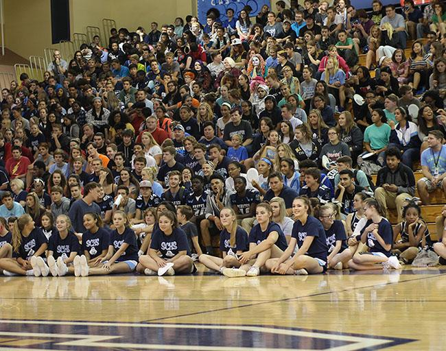Class of 2020 at the Homecoming assembly.