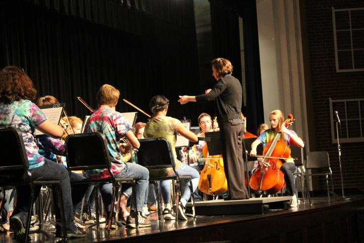 The Symphonic Orchestra performing  on Thursday Oct. 14.