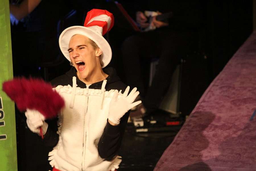 Nathan Meiser plays the Cat in the Hat.