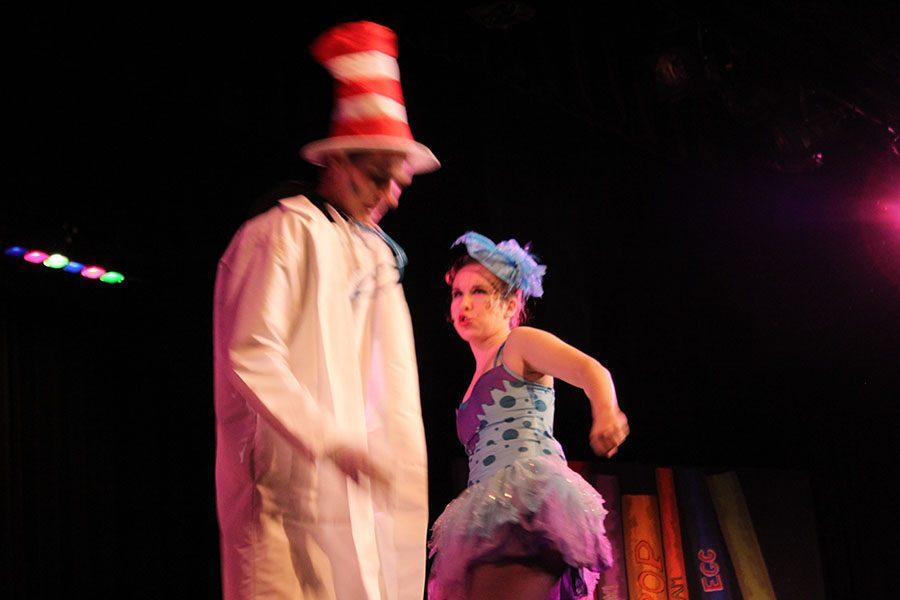 Samantha Harris with Nate Meiser.