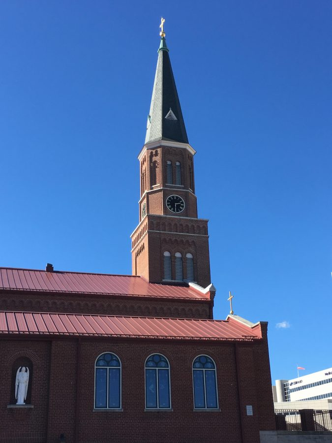 The St. Peters Catholic Church and School are located on First Capitol just before Main Street.
