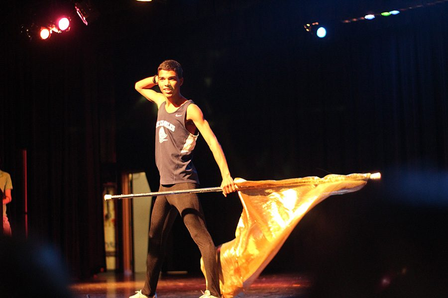 Abron took the stage again and wow-ed the crowd with a flag. He performed to Taylor Swift's