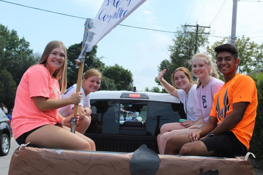 The SCHS Steering Committee, Renaissance, during the parade.