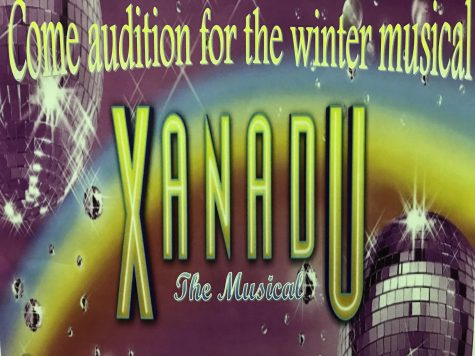 This Xanadu poster replaces Emma posters after the switch of musicals.