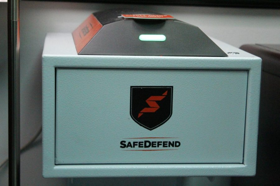 The SafeDefend box activates whenever the alarm is triggered, revealing supplies that can help in a serious situation