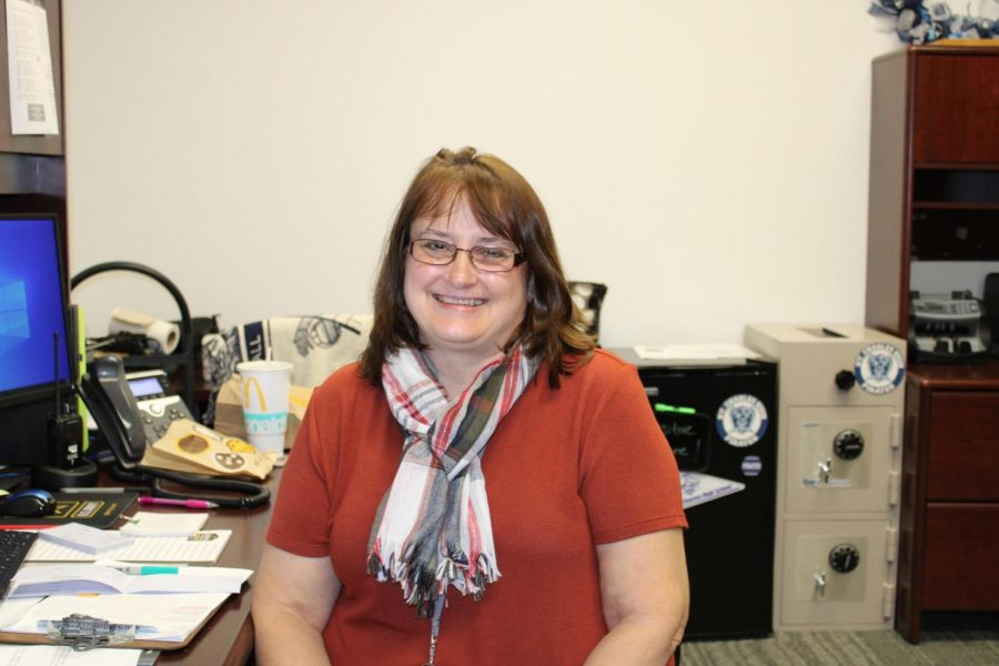 Marilyn Bizelli moved into the new position of Principal's Secretary this year.