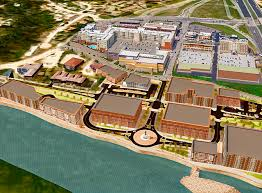 An illustration of what the completed Riverpointe Project is hoped to look like.