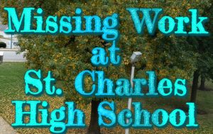The Front of St. Charles High School through the eyes of the students
