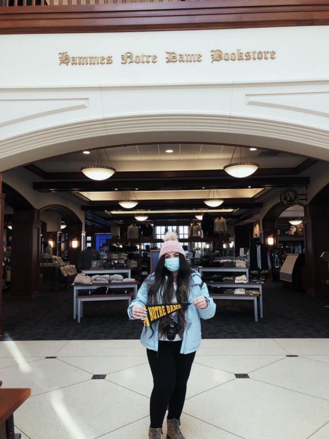 Rosario Murillo visiting Notre Dame's campus!