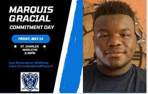 Standout junior football player Marquis Gracial will announce on Friday, May 14, which college he plans to attend.
