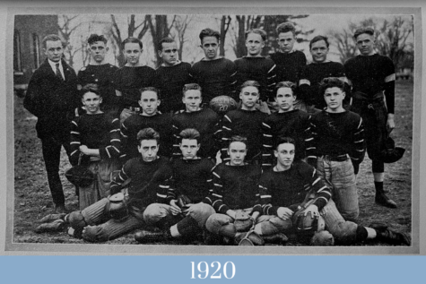 The first football squad of St. Charles High School