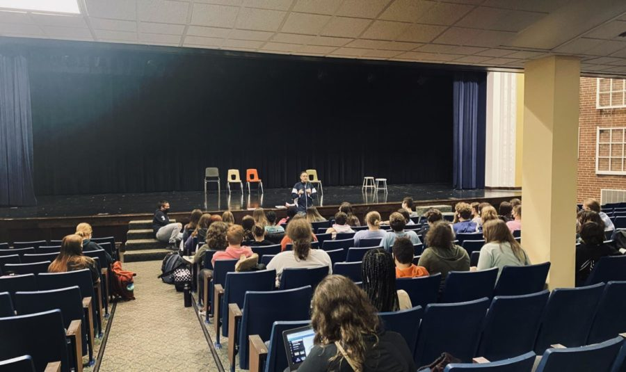 The first theater meeting of the 2021-2022 school year